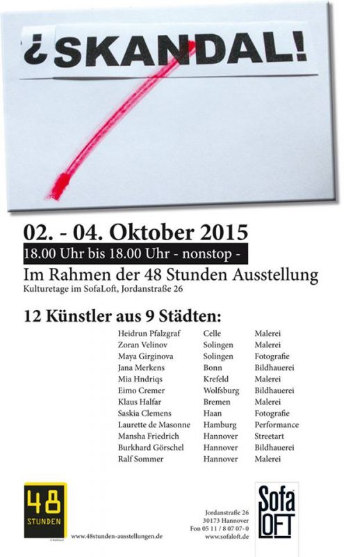 Ausstellung Hannover Flyer 2015