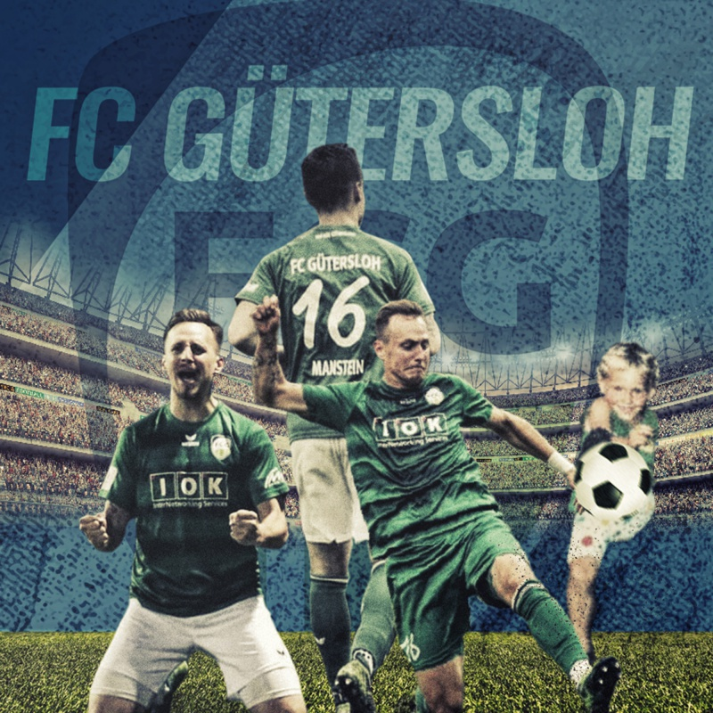 Fussball-Collage